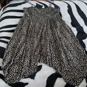 Pretty black pattern sun dress XXL pinup cute!!